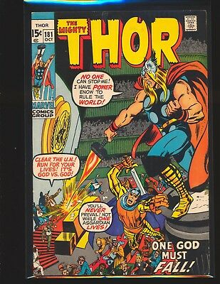Thor # 181 - Neal Adams cover & art VG/Fine Cond.