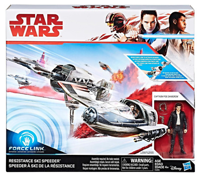 Star Wars The Last Jedi Resistance Ski Speeder Vehicle 3.75 Inch Figure