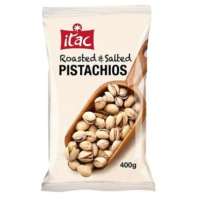 ITAC Roasted Salted Pistachios - 400g Gram Bag - UK SAVOURY SNACKS & NUTS