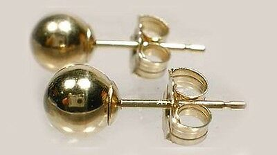 High Quality 14kt Gold 5mm Ball Studs Ancient Russian Scythians Himyarites Nubia