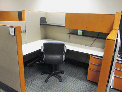 Used Office Cubicles, Haworth Premise Enhanced Cubicles 6x6