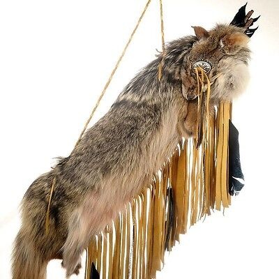 Navajo Made Coyote Fur Buckskin Leather Quiver & Arrows Set Native Made in USA