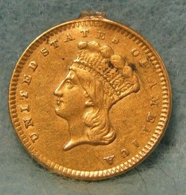 1856 Indian Princess $1 US GOLD Coin XF Details