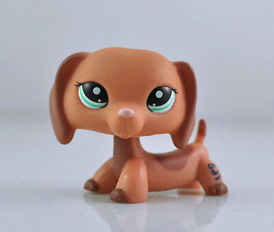 Pet Dachshund Dog Collection Child Girl Boy Figure Littlest Toy Loose LPS972