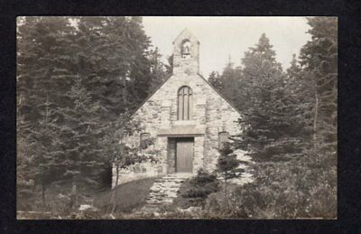 ME Stone Church Ocean Point Boothbay Harbor MAINE Real Photo Postcard RP RPPC