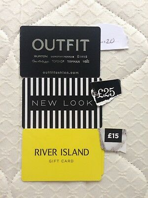 Clothes Gift Vouchers Worth £60