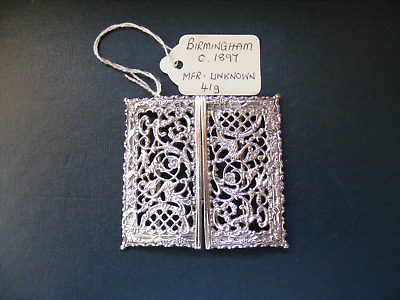 Antique .925 Sterling Silver Nurses Belt Buckle - Birmingham c.1897
