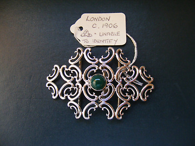Antique .925 Sterling Silver Nurses Belt Buckle - LONDON c.1906