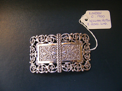 Antique .925 Sterling Silver Nurses Belt Buckle - London c.1900