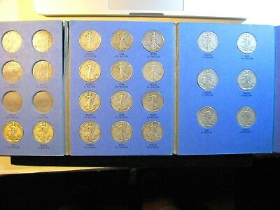 Walking Liberty Half 1941 To 1947 20 Pc Short Set Complete Vf  Free Shipping