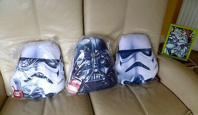 3 Official Disney Star Wars Stormtroopers & Darth Vader Soft Safe Child Cushions