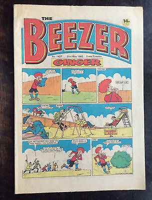 BEEZER COMIC. NO. 1427.  21 MAY 1983. VFN. Lovely condition