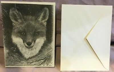 Fox Head Note Cards and Envelopes