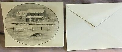 Country Scene and Fox in Field Note Cards and Envelopes