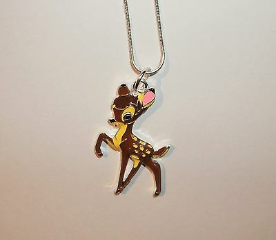BAMBI Inspired Large Charm NECKLACE DEER FAWN