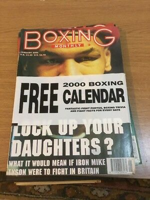 Boxing Monthly January 2000 Includes Calendar Vol 11 Issue 9 Magazine A4