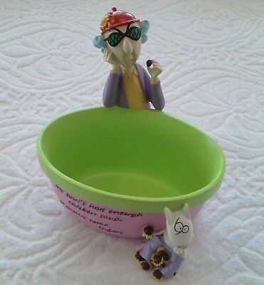 Hallmark Maxine My soul's had enough chicken soup it wants some sugar Candy Dish