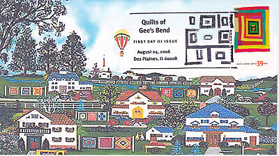 2006 First Day Cover Fdc Quilts Of Gee's Bend Issue Heritage Cachets Really Nice