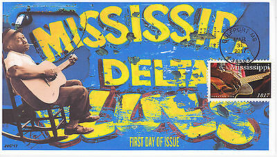 Jvc Cachets -2017 Mississippi Statehood First Day Cover Fdc Style #2 Blues Music