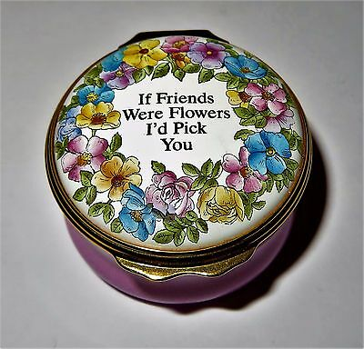 "Halcyon Days Enamel Box - ""if Friends Were Flowers I'd Pick You"" - Neiman Marcus"