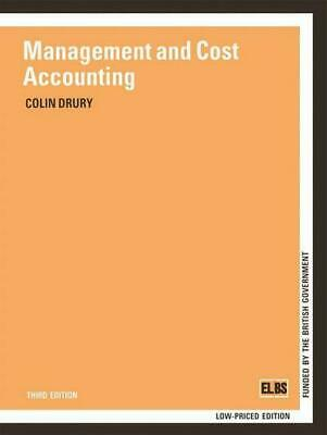 Management and cost accounting by COLIN M. DRURY (Paperback / softback)