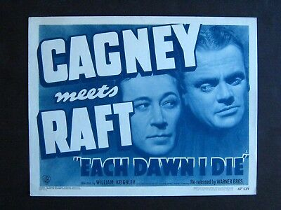 Each Dawn I Die '39 James Cagney George Raft Prison Classic Title Card