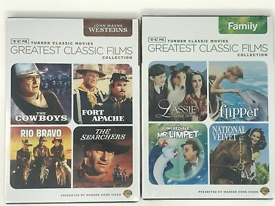 TCM John Wayne WESTERNS + Family Classics Turner Classic Film Set of 2 DVD #225