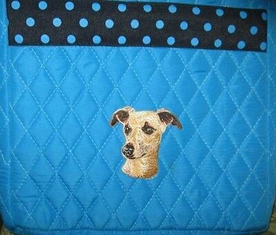 Q purse WHIPPET Turquoise Quilted Microfiber Fabric Hipster Purse