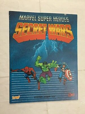 Secret Wars  Marvel Super Heroes  Album Vuoto  In Inglese Age 1984 Raro
