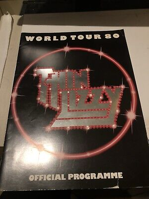 Thin Lizzy Official World Tour Programme 1980 Vg+