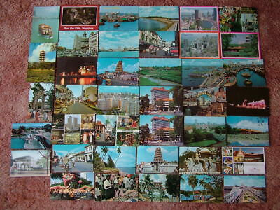 40 Used Postcards of SINGAPORE. Standard & Modern size. 1960's onwards.