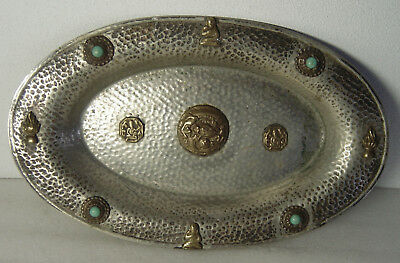 antique hammered silver or silverplate bowl signed Continental Silver Co. Inc.