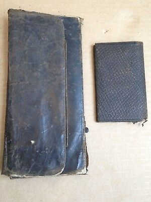 Estate Found Dr Albert Leffingwell's Wallet & Calling Card Holder W/contents