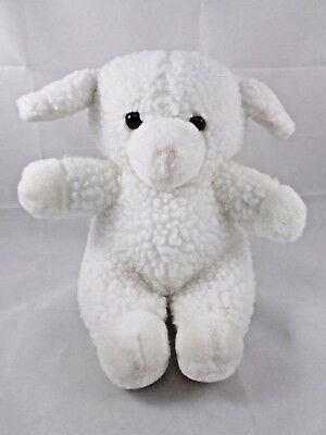 "Dakin White Sheep Lamb Plush Sits 8.5"" Tall 1990"