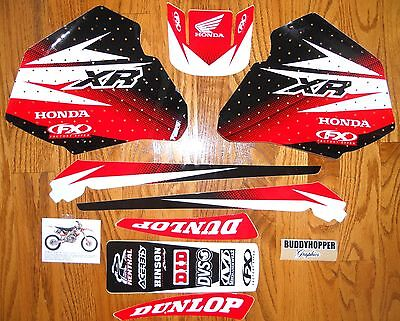 FX HONDA GRAPHICS DECALS KIT XR 80 XR 100 XR80  XR100 (85 to 00)  On Sale!