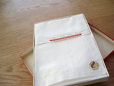 Set Of 3 Vintage All Cotton Handkerchiefs For Men –Canopus Make—Boxed.