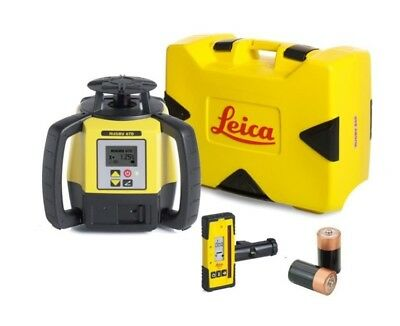 Rotating Laser Leica Rugby 670 with Rod Eye-120 and Alkaline Package 6011158