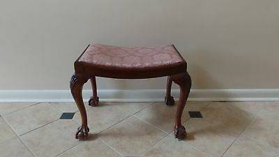 JAMES SCHOOLBRED & Co Tottenham Ct Rd Queen Anne Ball and Claw feet Bench Stool