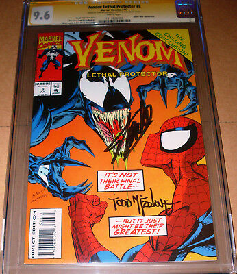 Venom Lethal Protector #6 CGC SS 9.8 SIGNED Stan Lee Todd McFarlane Spider-Man