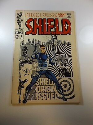 Nick Fury Agent of SHIELD #4 VG condition Huge auction going on now!