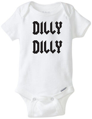 1ad831d39609 Dilly Dilly Funny Novelty Baby Unisex Onesie Boy Girl Clothes Bodysuit