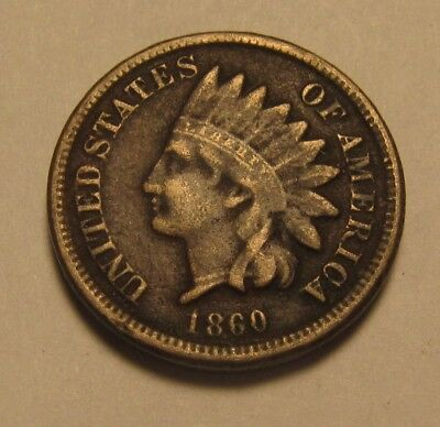 1860 Indian Head Cent Penny - Fine Details Corroded - 23SU