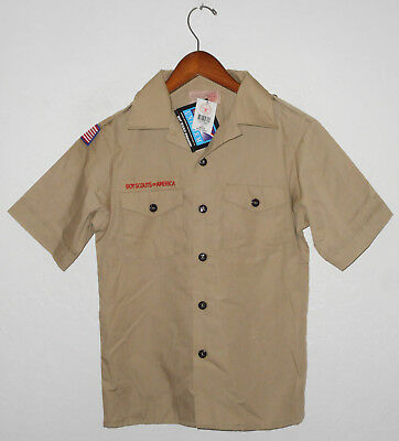 NEW BOY SCOUTS Of America UNIFORM Shirt KHAKI Scout NWT Boys YOUTH Md