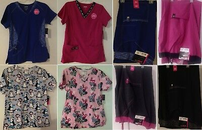 NEW with Tags Womens Scrub Tops & Pants ~ Multiple Colors & Sizes XS, SM & 3XL