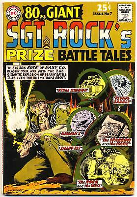 EIGHTY PAGE GIANT #7 VG, 80pg. Sgt. Rock's Prize Battle Tales, DC Comics 1965