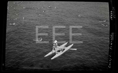 1939 Coney Island Life Guard Brooklyn NYC New York City Old Photo Negative 495B