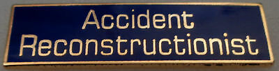 ACCIDENT RECONSTRUCTIONIST Award/Commendation Bar police/sheriff gold on blue