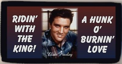 Elvis Presley Ridin' With The King Checkbook Cover Wallet Credit Card Holder