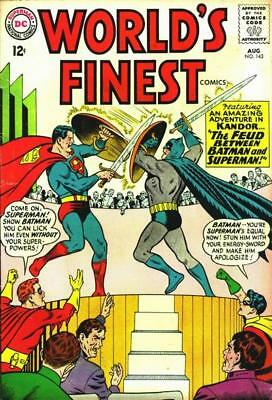 WORLD'S FINEST 143 VG/F, SUPERMAN, BATMAN, 1st Mailbag column, DC Comics 1964