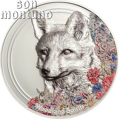 Woodland Spirits FOX - 1 oz Silver High Relief Coin 2018 Mongolia NEW SERIES
